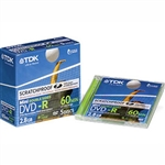SUPPORTO TDK MINI DVD+RW rescrivibile 1-2x 8CM 1.4 GB JEWEL CASE CONF. 5PZ